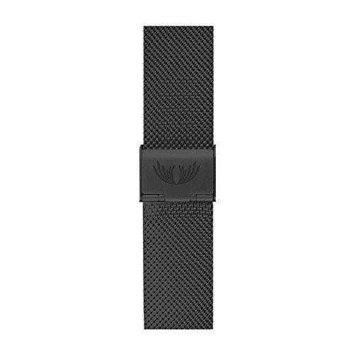 Schwarzes Milanaise Strap |Crowon Uhrenarmband Mesh-Edelstahl-Metallarmband || Armband Replacement Watch Strap