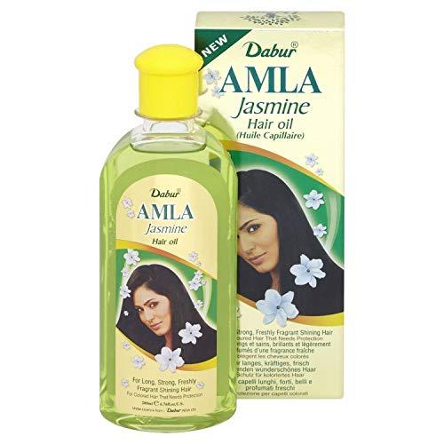 Aceite capilar Dabur Amla JASMINE 200 ml para la cabello fortalezas y...