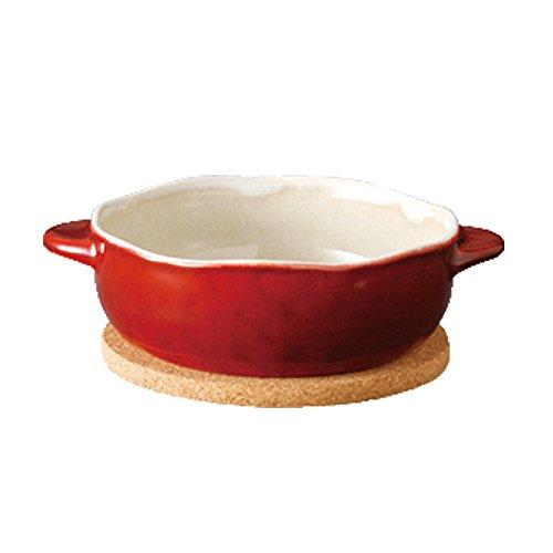 KINTO (キントー) グラタン皿 ほっくり 丸グラタン 赤 34321