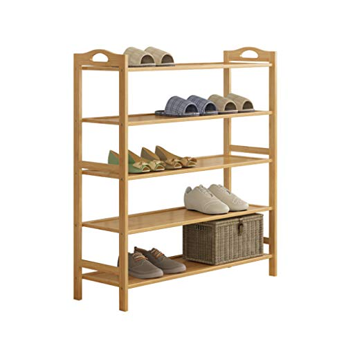 Zapatero Shoe Rack Bamboo Household Multi-Layer Simple Shoebox Dormitorio Estante De Almacenamiento (Color : C-90)