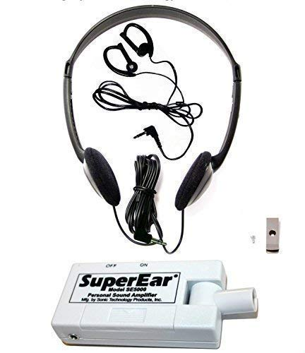 SuperEar Personal Sound Amplification Product Model SE5000 Increases Ambient Sound Gain 50dB