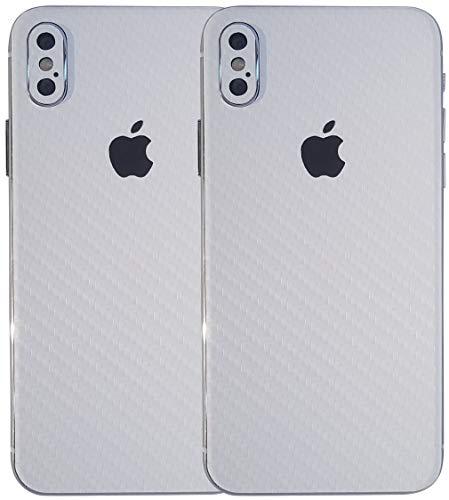 TKCase iPhone X Skin Schutzfolie Rückseite [2 Stück] Carbon,Shadow. (Carbon Weiß)