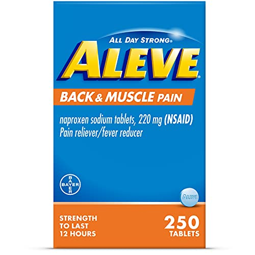 Aleve Back & Muscle Pain Relief Naproxen Sodium Tablets ‐ 250 Count, 250 Count