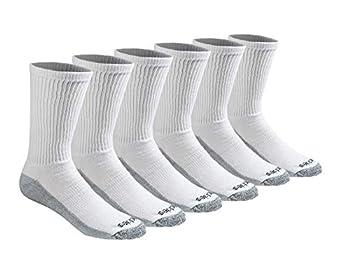 Dickies Men s Dri-tech Moisture Control Crew Socks Multipack White  6 Pairs  Shoe Size  6-12