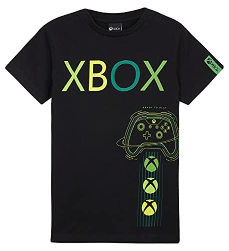 Xbox Camiseta Niño, Ropa Niño 100% Algodon, Camisetas Niño Manga Corta Color Negro, Merchandising Oficial Regalos para Niños y Adolescentes 5-15 Años (Negro, 13-14 años, 13_Years)