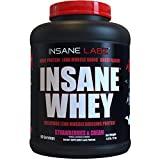 Insane Labz Insane Whey,100% Muscle Building Whey Isolate Protein, Post Workout, BCAA Amino Profile,...