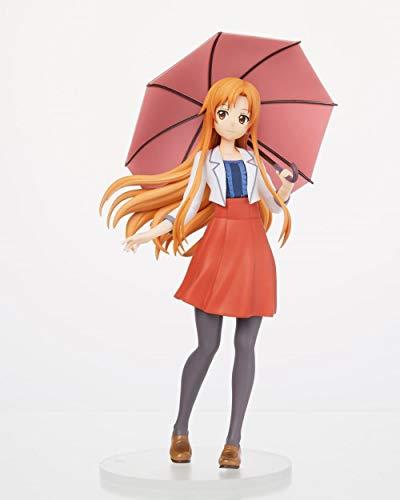 N / A Sword Art Online Asuna Yuuki Asuna Paraguas Ropa Casual Paisaje Hecho a Mano Modelo
