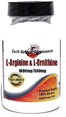 L-Arginine and L-Ornithine 1000mg 500mg All half items in the store 200 100% Capsules Natu