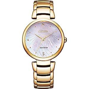 CITIZEN シチズン EM0853-81Y ステンレススチール エコドライブ ソーラー 腕時計 レディース ブランド [並...