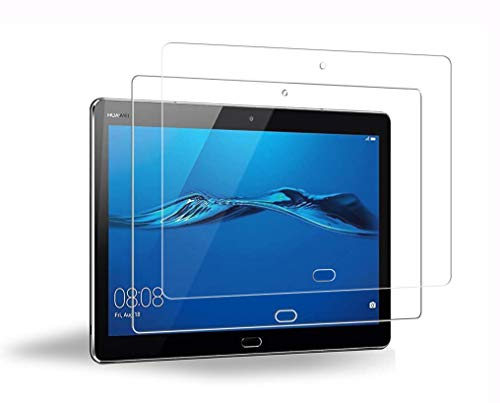 WEOFUN 2 Unidades Huawei Mediapad M3 Lite 10 Protector de Pantalla, Cristal Templado para Huawei Mediapad M3 Lite 10.1 Protector Vidrio Templado [0.33mm, 9H, Alta Definicion]
