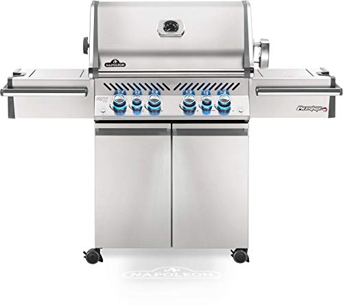 Napoleon PRO500RSIBPSS-3 Prestige PRO 500 Propane Gas Grill with Infrared Rear and Side Burner, Stainless Steel - Assembly Free Grill Grills Portable Propane UDS