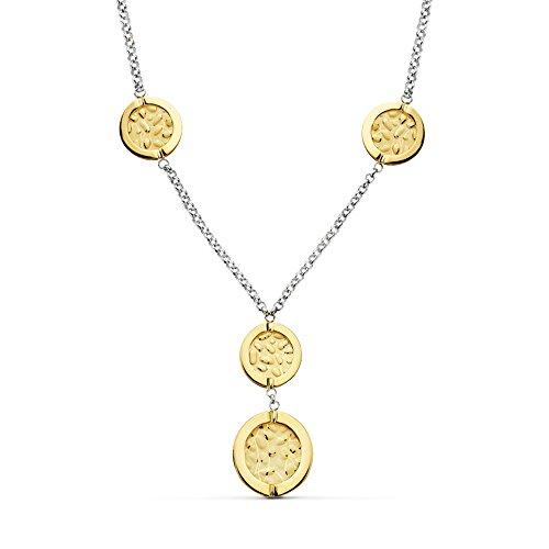 Collar de Mujer oro bicolor 18 kilates Drop by drop