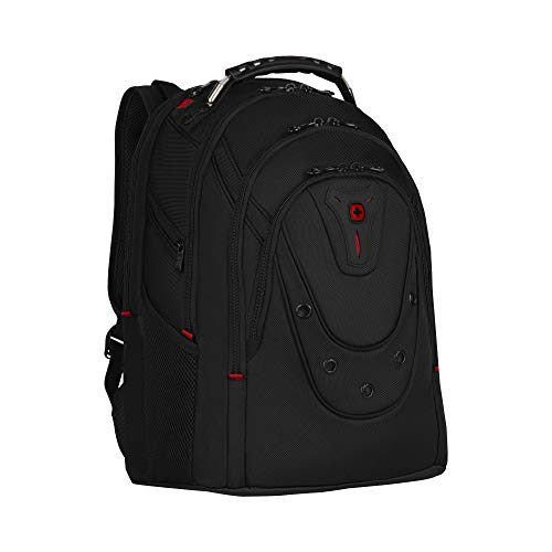 Wenger Ibex Deluxe Laptop Backpack, Fits 14″ to 16″ Laptop, up to 10″ Tablet, 26 l, Unisex, Ideal for Business Uni School Travel, Black