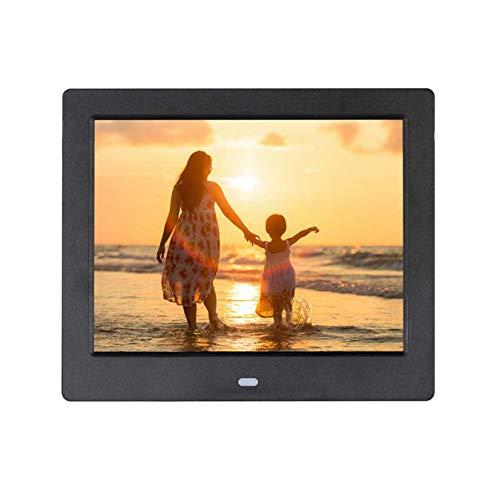 Hahaiyu 8 Pulgadas Marcos de Fotos Digitales (1024 × 768 resolución) LCD Comercial Super Estante Publicidad máquina LED álbum de Fotos electrónico,Black