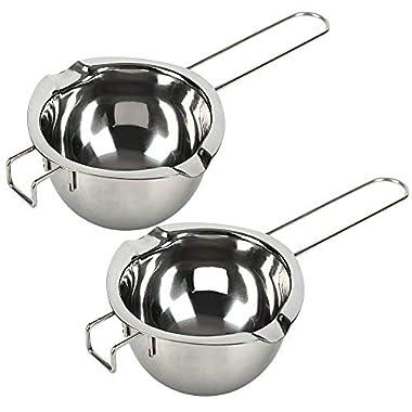 18/8 Stainless Steel Universal Double Boiler | Melting Pot | Smart Baking Tool (Set of 2)