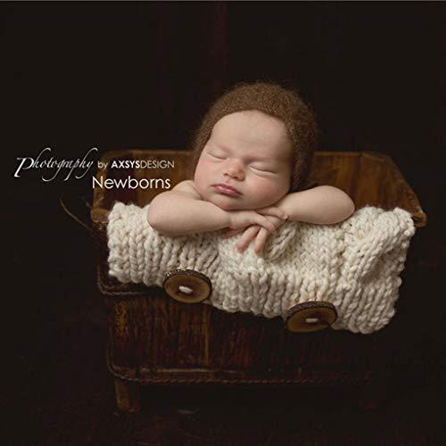 Lorsoul Fotografía Atrezzo bebé recién Nacido Abrigos de Punto de Ganchillo Hecho a Mano Saco de Dormir de los niños Foto Complementos para la Caza