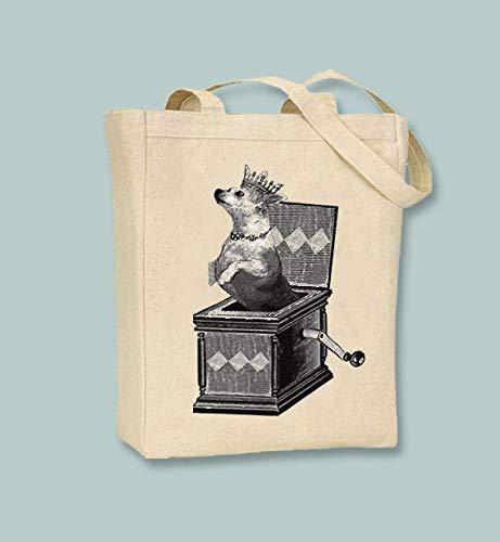 Chihuahua in The Box - Bolsa de lona para la compra (reutilizable,...