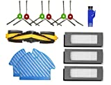 APLUSTECH Kit de 13 Recambios para Ecovacs Deebot OZMO 900 Aspiradora Robot - Cepillo Lateral, Cepillo Principal, Filtro HEPA con Esponja Negra y Mopa.