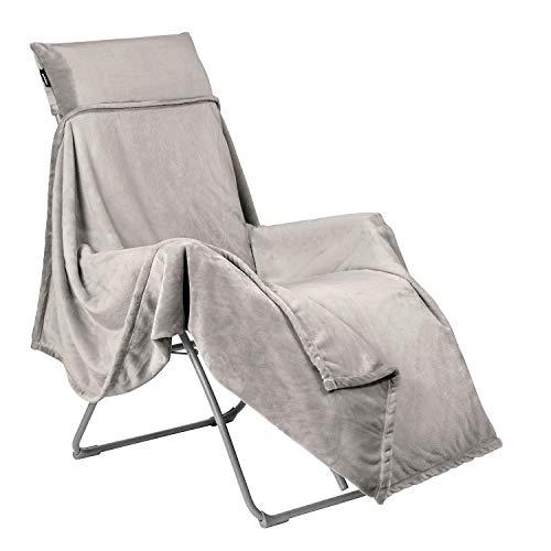LAFUMA MOBILIER Fleece-Decke FLOCON, Für LAFUMA Relax Liegestühle, 180x170 cm, Farbe: Inuit, LFM5040-9282