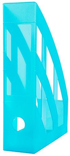 Idena 300885 - Stehsammler für DIN A4, aus Kunststoff, transluzent türkis, 1 Stück