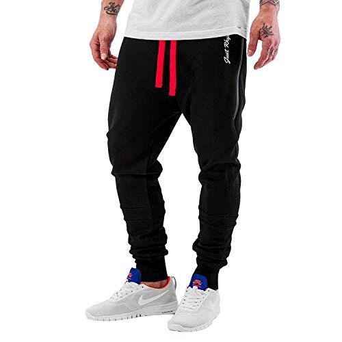 Just Rhyse Herren Sweat Pants Big Pocket Tech Jogginghose mit rotem Bändchen und großen Seitentaschen