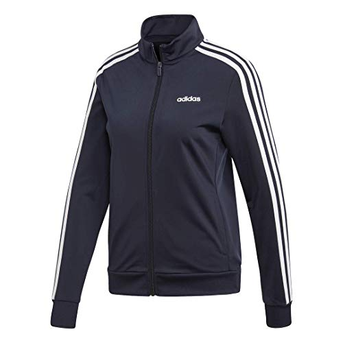 adidas Damen Essentials Trainingsjacke, Damen, Jacke, Essentials 3-stripes Tricot Track Jacket, Tinte / Weiß, Medium