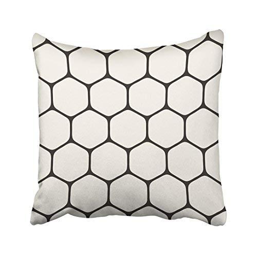 Funda de almohada decorativa para el hogar, 20 x 20 cm, diseño de cuadrícula geométrica, simple, monocromática, hexagonal, enrejado hexagonal, 50 x 50 cm, fundas de cojín cuadradas decorativas para sofá, accesorio para el hogar