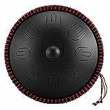 SJH Handpan Tamburo, Hang Drum,Tamburo in Acciaio 9 Toni 14 Pollici D-Key,Steel Tongue Drum,...