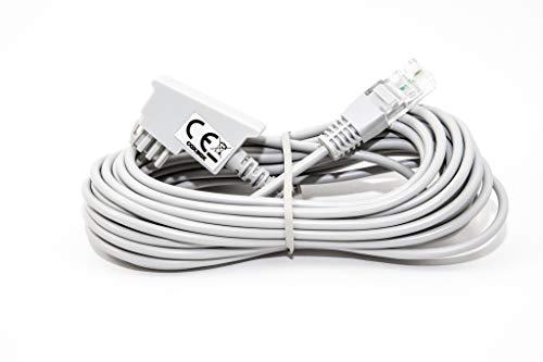 COXBOX 5m GRAU VDSL ADSL Kabel für den IP basierten DSL Anschluss TAE RJ45 VoiP Fritzbox Speedport