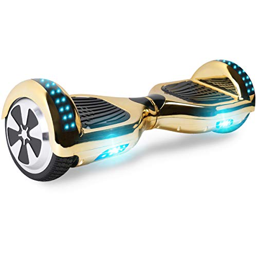 "Windgoo Hoverboard, 6.5"" Self Balance Scooter mit Bluetooth Lautsprecher, 2 * 250W Motor, LED Lights, Elektro Scooter (Chrome Gold)"