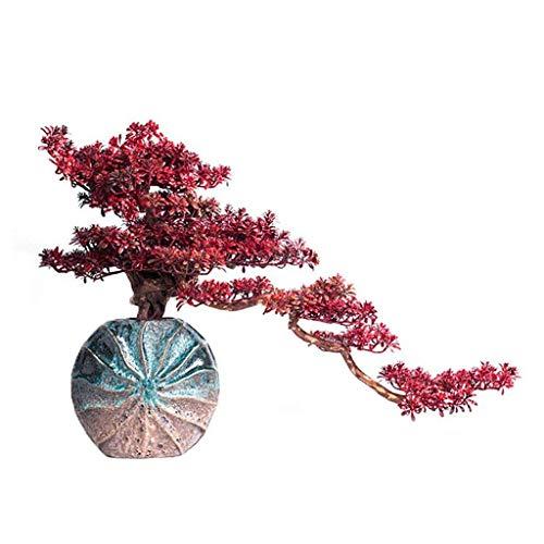 ZYYH Artificial Plants Creative Artificial Bonsai Cedar - Decorative Artificial Trees - Simulation Decorative - Fake Green Pot Plants Ornaments Artificial Pot Artificial Tree (Color : A)