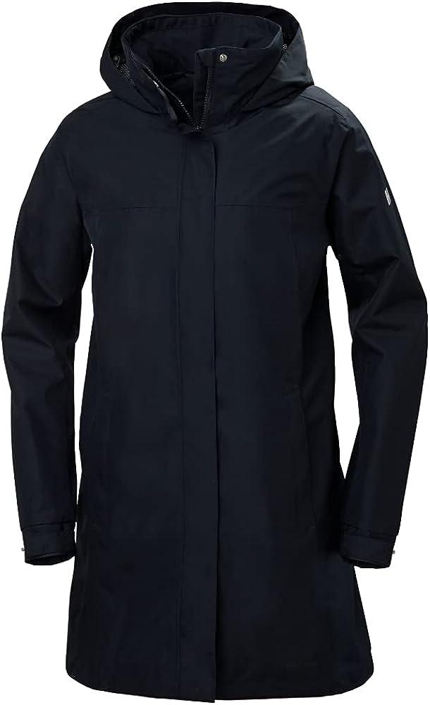 Helly-Hansen Women's Aden Waterproof Breathable Hooded Long Rain Jacket