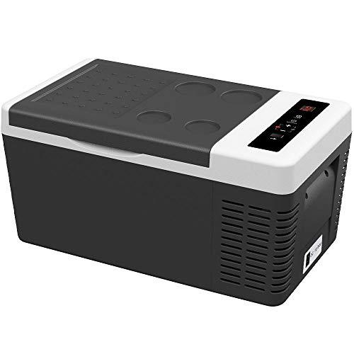 F40C4TMP 車載冷蔵庫 18L -22℃~10℃冷凍 25℃-55℃加熱 車載冷温蔵庫 急速冷凍 静音 2電源 12V 24V 100V ポータブル冷蔵庫 ACコード DCコード 取扱説明書付き