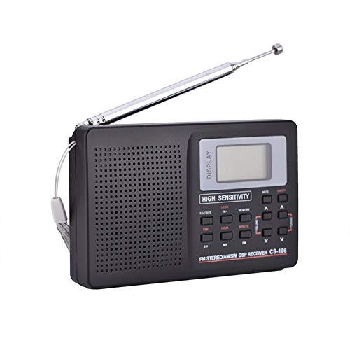 Tragbares Radio, FM/AM/SW/LW/TV Ton Vollfrequenz Radios Receiver Wecker FM Radio Mini-Radio