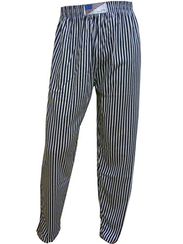 Super Save Direct uk Herren Gym Baggies Baggy Workout Hose Sport Hose Casual Hosen Gr. Small/Medium, Black & White Pin Stripe