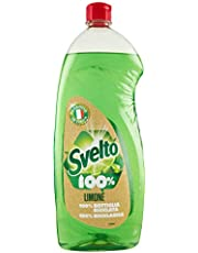 Svelto Detergente para vajilla, sgrassa facilmente, con auténtico Zumo de Limón–1000ml