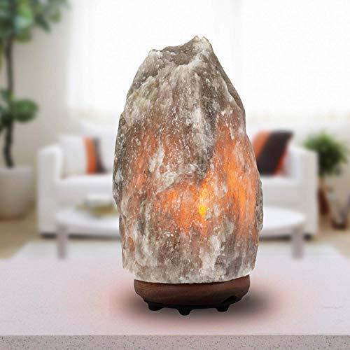 Giggi 1-2 KG 100% Natural Himalayan Salt LAMP Rare Grey with DIMMER...