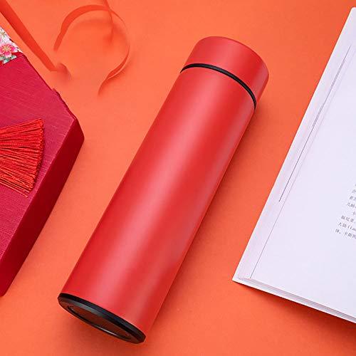 HUIHUAN Thermos Cup 2019 Nueva Creativa Dedo Inteligente Pantalla Táctil Temperatura Taza 500 ml Acero Inoxidable de gama Alta Taza de Regalo de Coche,Red