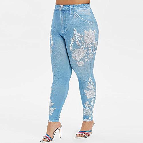 QKDJ Pantalones de Yoga para Mujer Leggings Deporte Mujer Plus Leggings de Terciopelo Mujeres s Otoño e Invierno Alta Elasticidad Pantalones de Yoga de Terciopelo Grueso Warm X2-Blue_XXL