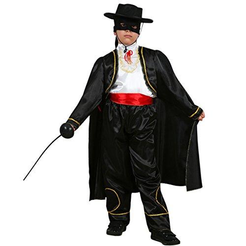 Pegasus Vestito Costume Maschera di Carnevale Bambino - Zorro VENDICATORE - Taglia 8/9 Anni - 115 cm
