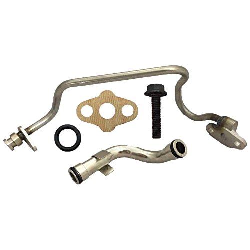 Updated Turbo Feed & Drain Line Tube 2004-2007 Ford 6.0L Powerstroke Diesel F250 F350 F450