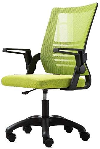 BeingHD Qualitätsbürostuhl, Bürostuhl mit Armlehne Bürostuhl, Mid Back Mesh Office Computer Swove Desk Task Chair, ergonomischer Executive Chair mit Armlehnen (Color : Green)