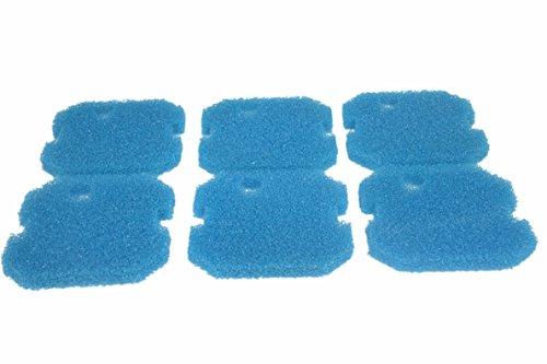 Sin Marca Estera de filtro Esponja de filtrado gruesa de color azul de reemplazo para Eheim 2616261 Professional Pro 2 2226/2326/ 2026/2128 y Experience 350 (6 piezas)
