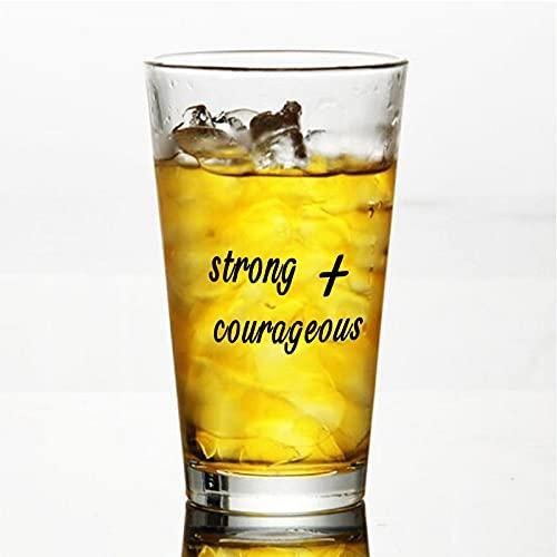 Taza de cristal fuerte y valiente, para agua, zumo, cerveza, licor, whisky en boda, fiesta, día de la madre, día del padre, cumpleaños.