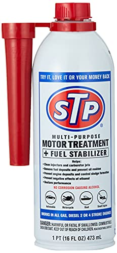 STP Fuel System Cleaner and Stabilizer, for Gas, Diesel, 2 Stroke, 4 Stroke, 16 Fl Oz, 78588