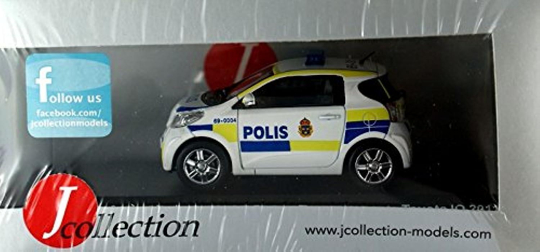 J-Collection Maßstab 1  43  Toyota IQ Schweden Polizei Auto 5.107,9 cm Modell Auto B013LSJTIG Starke Hitze- und HitzeBesteändigkeit | Produktqualität