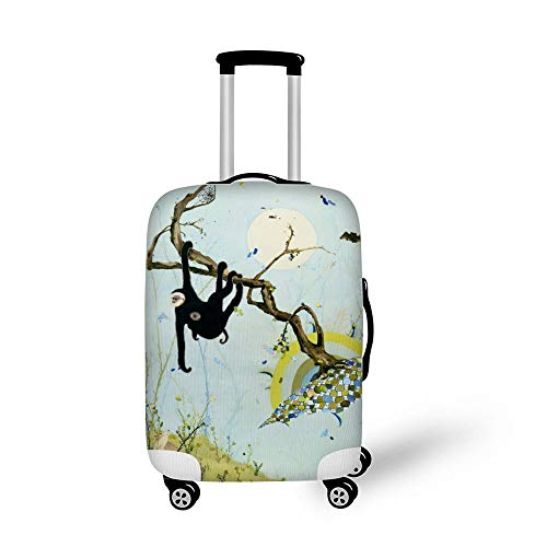 Beautiful Colourful Teal Cowboy Boots 18-21 inch Travel Luggage Cover Spandex Suitcase Protector Washable Baggage Covers