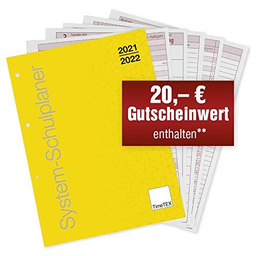 TimeTEX System-Schulplaner - Loseblatt-Einlage A4-Plus - Schuljahr 2021-2022 - Lehrerkalender - Terminplaner - Lehrerplaner - Unterrichtsplaner - Schulplaner - Lehrertimer - 10755