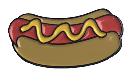 Hot Dog and Mustard Take Me Out To The Ball Game Enamel Lapel Pin