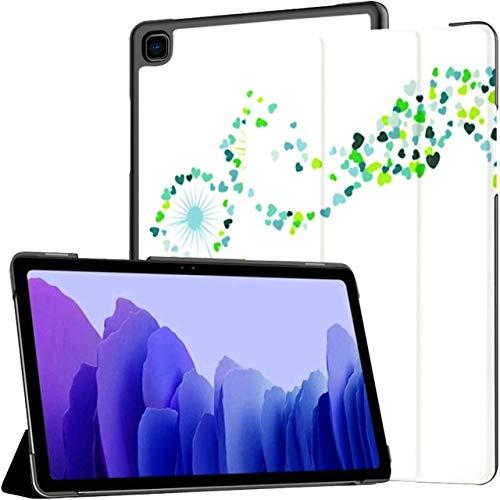 Funda para Samsung Galaxy Tab A7 Tableta de 10,4 Pulgadas 2020 (sm-t500 / t505 / t507), Azul, Verde Azulado, Vector, Diente de león, Hierbas, Soporte de ángulo múltiple, Cubierta con activación/Sus